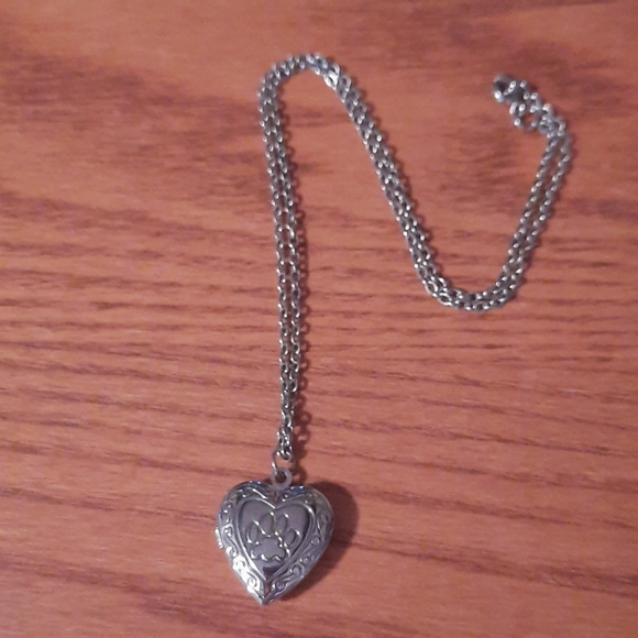 Locket necklace with dog print on front